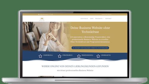 """Computer Mockup Website Bereich einer Website """"above the fold"""""""